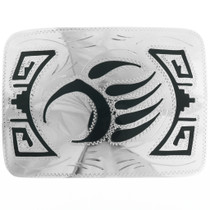 Silver Bear Paw Belt Buckle 23359