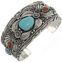 Big Boy Turquoise Coral Cuff Bracelet 26353