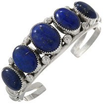 Navajo Blue Lapis Silver Cuff Bracelet 11391