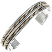 Gold Silver Navajo Cuff Bracelet 24472