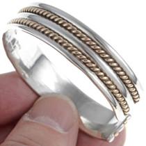 Gold Twist Wire Sterling Cuff Bracelet 24472