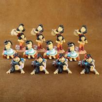 Lot of Twelve Colorful Pueblo Kid Figurines by Jack Graham 1029