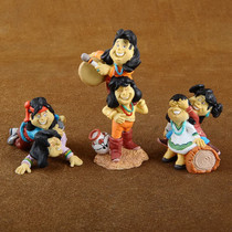 Variety Wholesale Lot of Twelve Colorful Pueblo Kid Figurines by Jack Graham