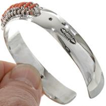 Navajo Coral Cuff Bracelet 11408