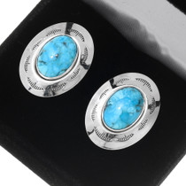 Navajo Turquoise Cuff Links 23169