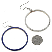 Large Lapis French Hook Earrings 19482