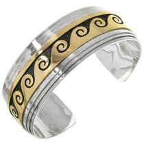 Silver Gold Navajo Cuff Bracelet 10777