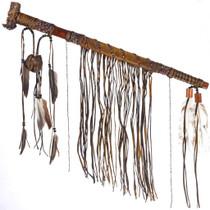 Handmade Buckskin Beaded Peace Pipe 25314