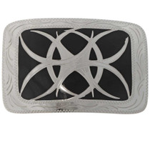 Tribal Tattoo Silver Belt Buckle 10226