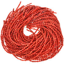 4mm by 6mm Coral Beads 16 inch Long Strand