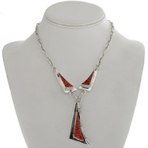 Raised Coral Inlay Y Necklace 15203