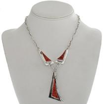 Raised Coral Inlay Y Necklace 15203