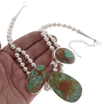 Kingman Turquoise Silver Necklace 16923