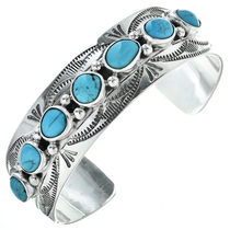 Sleeping Beauty Turquoise Silver Cuff 11501