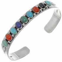 Navajo Multi Gemstone Bracelet 23228