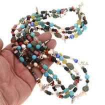 Navajo Multistone Charm Necklace 25164
