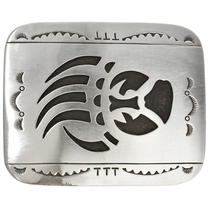Longmire Sterling Bear Paw Navajo Belt Buckle 23067