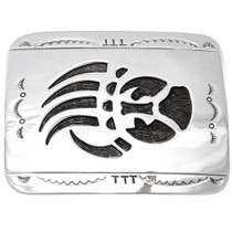 high shine Longmire Sterling Bear Paw Navajo Belt Buckle 23067