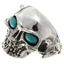 Silver Biker Mens Ring 26737