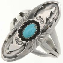 Kingman Turquoise Silver Ring 26690