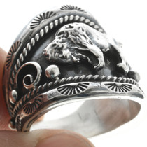 Navajo Buffalo Sterling Ring 22532