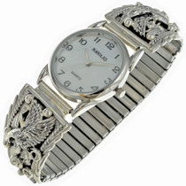 Mens Silver Eagle Watch 23008