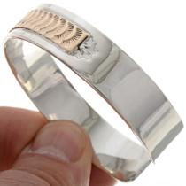 Navajo Gold Silver Bracelet 15151
