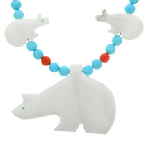 Navajo Beaded Bear Necklace 20719