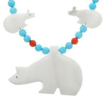 Navajo Beaded Bear Necklace 20719