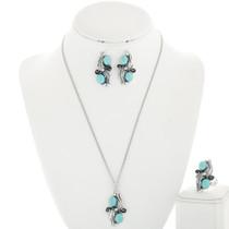 Kingman Turquoise Jewelry Set 25870