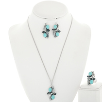 Kingman Turquoise Jewelry Set 25870