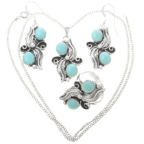 Turquoise Pendant Set Ring Earrings