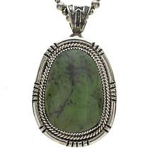 Sterling Jade Native American Pendant 25371