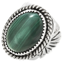 Navajo Malachite Silver Mens Ring 25943