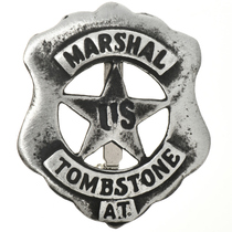 Tombstone US Marshal Silver Badge 13117