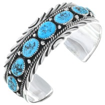 Navajo Turquoise Silver Cuff Bracelet 19679