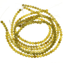 8mm Lemon Serpentine Beads 16 inch Long Strand