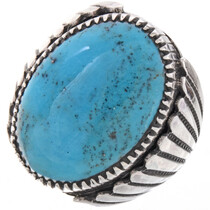Navajo Turquoise Mens Ring 22431