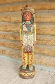 Wooden Indian Chief 33956