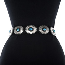 Sleeping Beauty Turquoise Concho Belt 18604