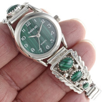 Navajo Malachite Watch 23588