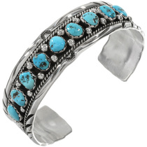 Sleeping Beauty Turquoise Silver Cuff 17621