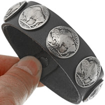 Buffalo Nickel Leather Cuff  24001