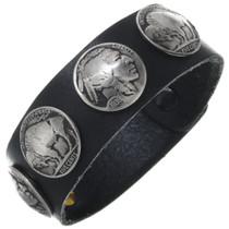 Leather Buffalo Nickel Bracelet 24001