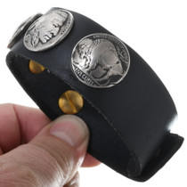 Buffalo Nickel Leather Cuff 24001