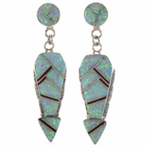 Arrow Opal Gemstone Silver Earrings 15108