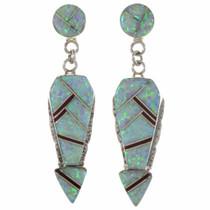 Arrow Opal Gemstone Silver Earrings 15108