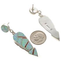 Post Dangle Carnelian Opal Earrings 15108