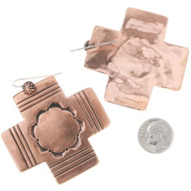 Hand Hammered Copper Navajo French Hooks 22320