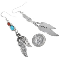 Silver Feathers Earrings 26205